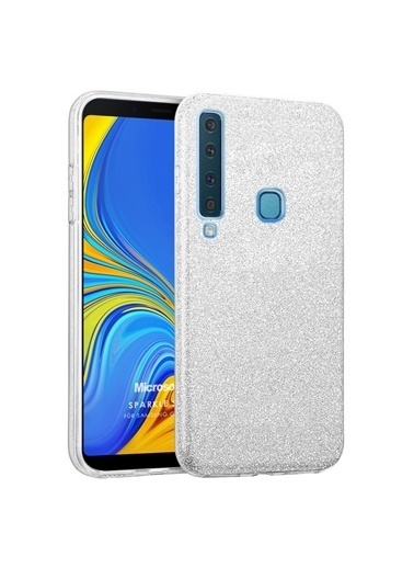 Microsonic Microsonic Samsung Galaxy A9 2018 Kılıf Sparkle Shiny Gold Gümüş